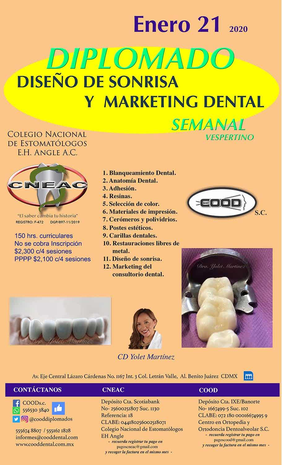 Diplomado en Diseño de Sonrisa y Marketing Dental