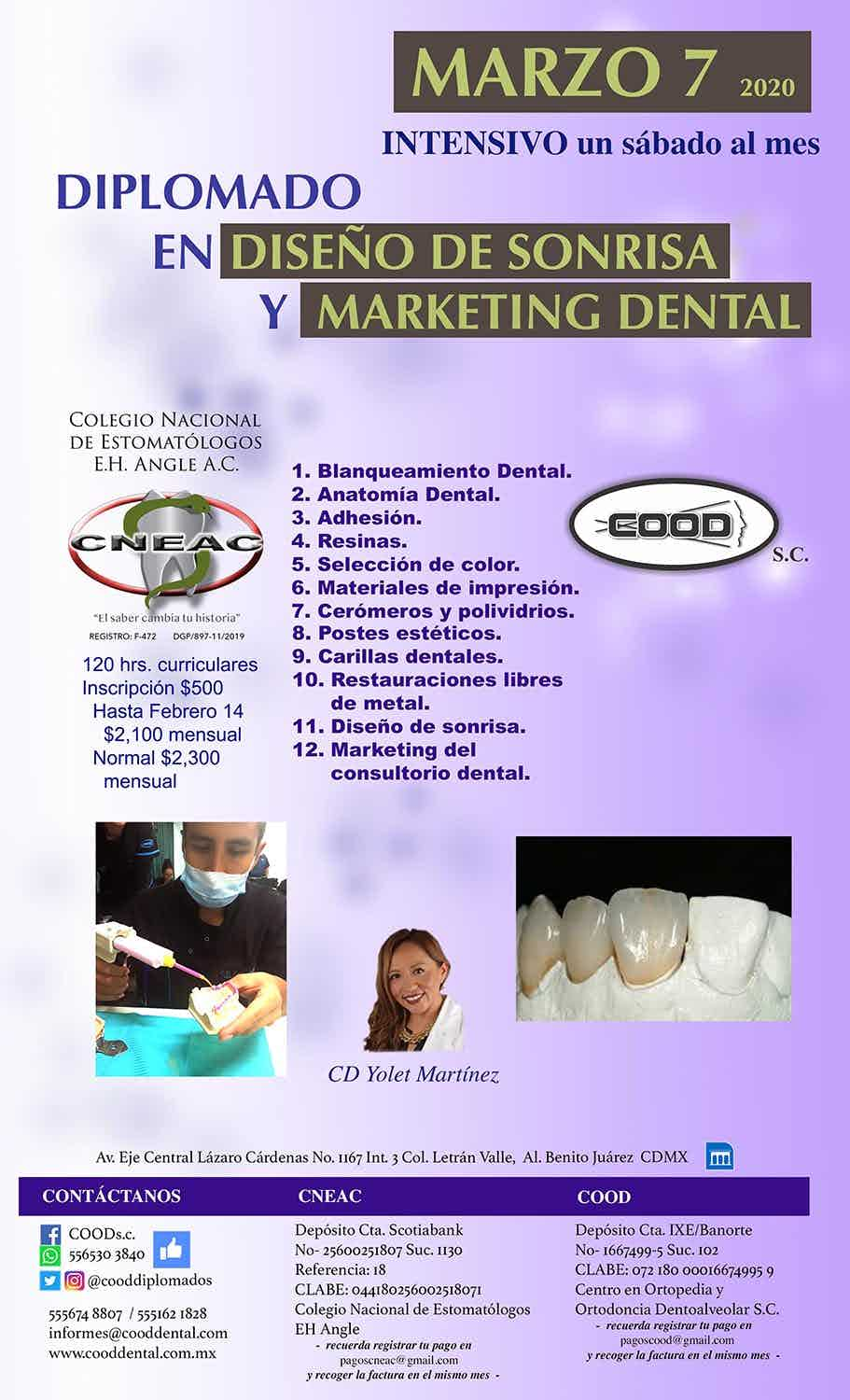 Diplomado Sabatino en Diseño de Sonrisa y Marketing Dental